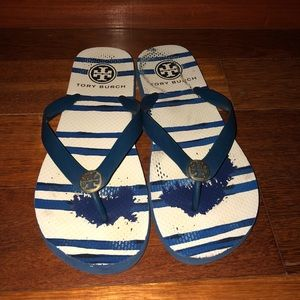 Tory Burch Blue flip flops